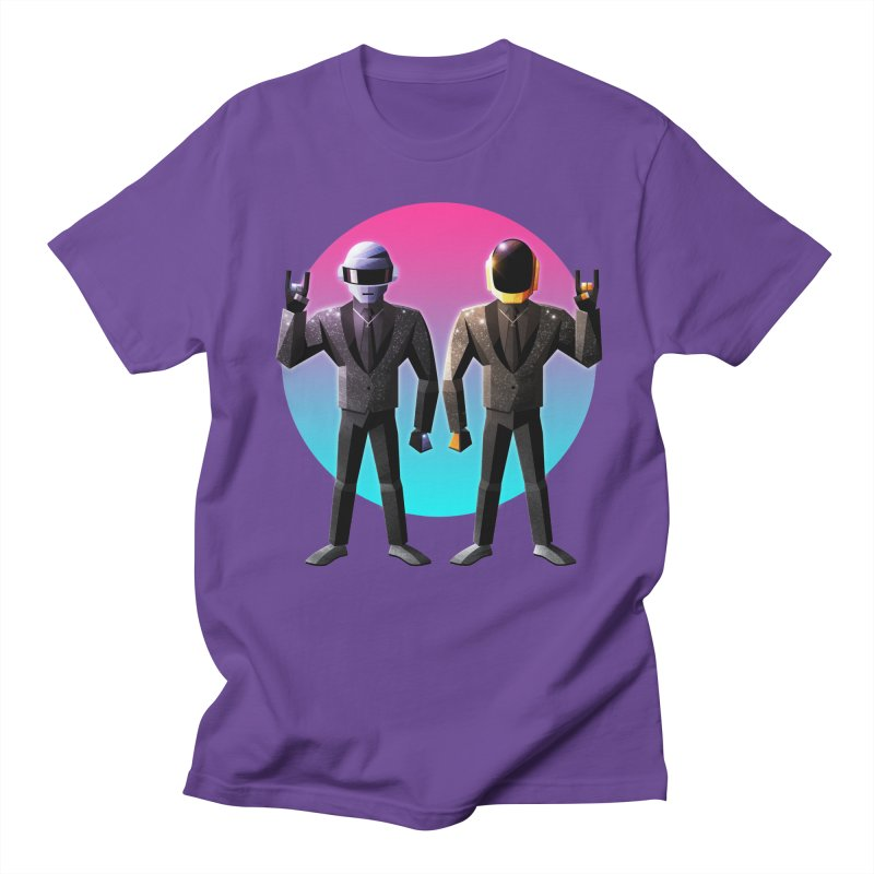 Robot Rock in Men's T-Shirt Purple by Signalnoise Threadless Store