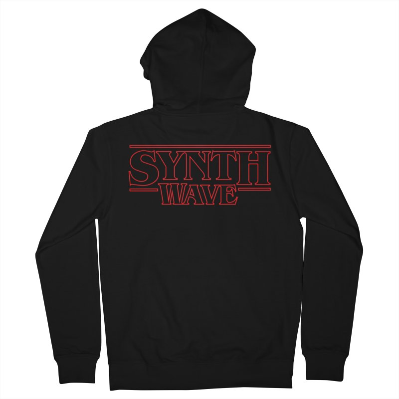 "Stranger ""Synthwave"" Things Men's French Terry Zip-Up Hoody by Signalnoise Threadless Store"