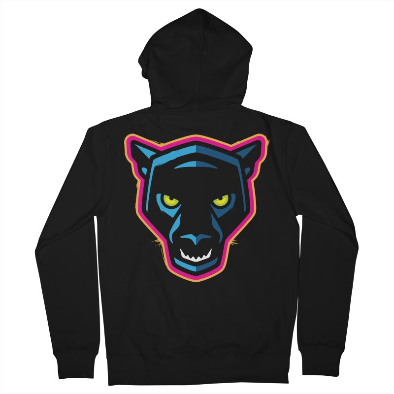 Panther! Men's French Terry Zip-Up Hoody by Signalnoise Threadless Store