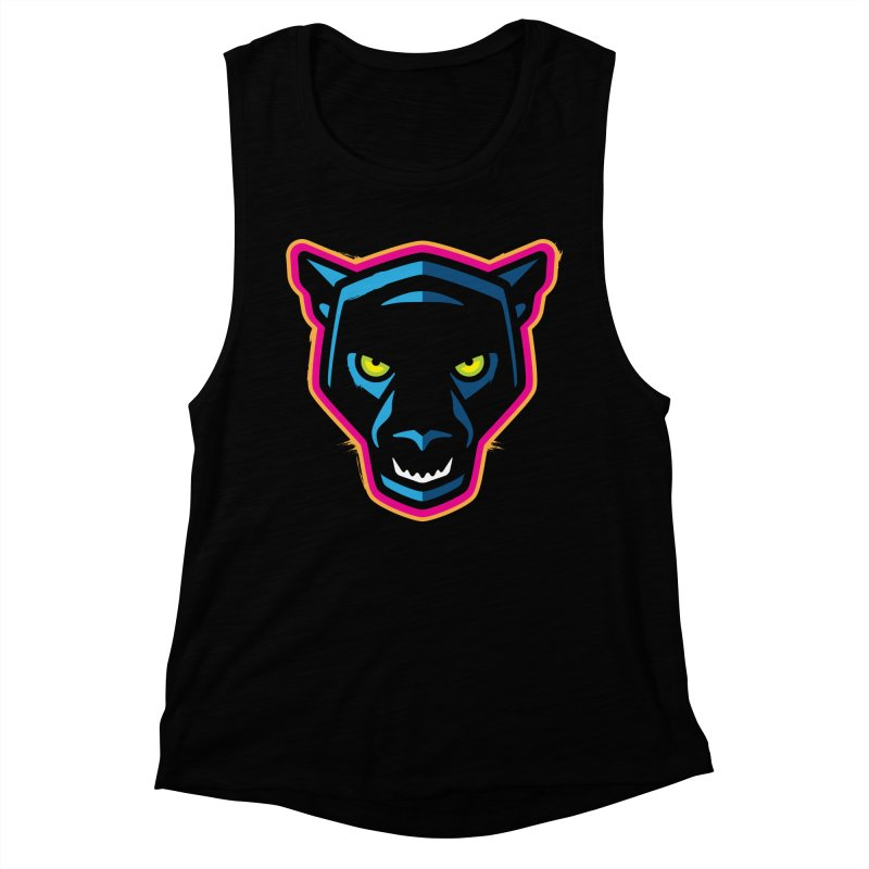 Panther! Women's Muscle Tank by Signalnoise Threadless Store