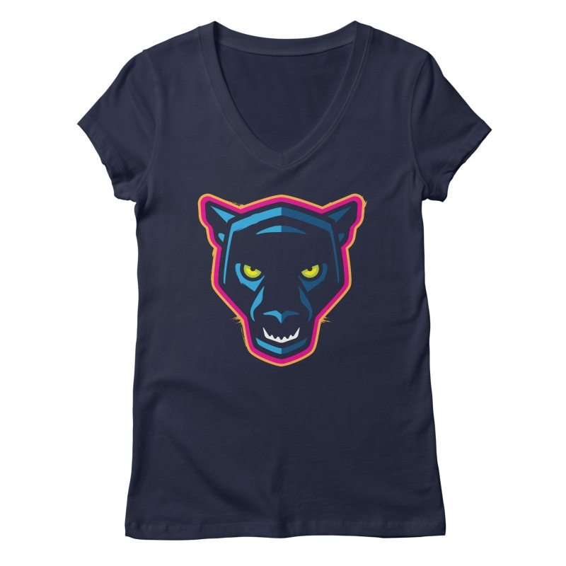 Panther! Women's V-Neck by Signalnoise Threadless Store