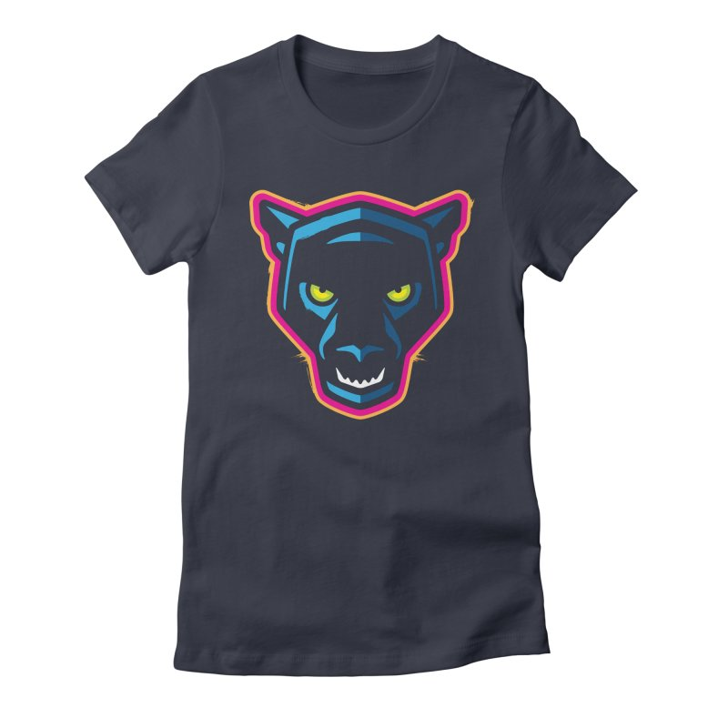 Panther! Women's Fitted T-Shirt by Signalnoise Threadless Store