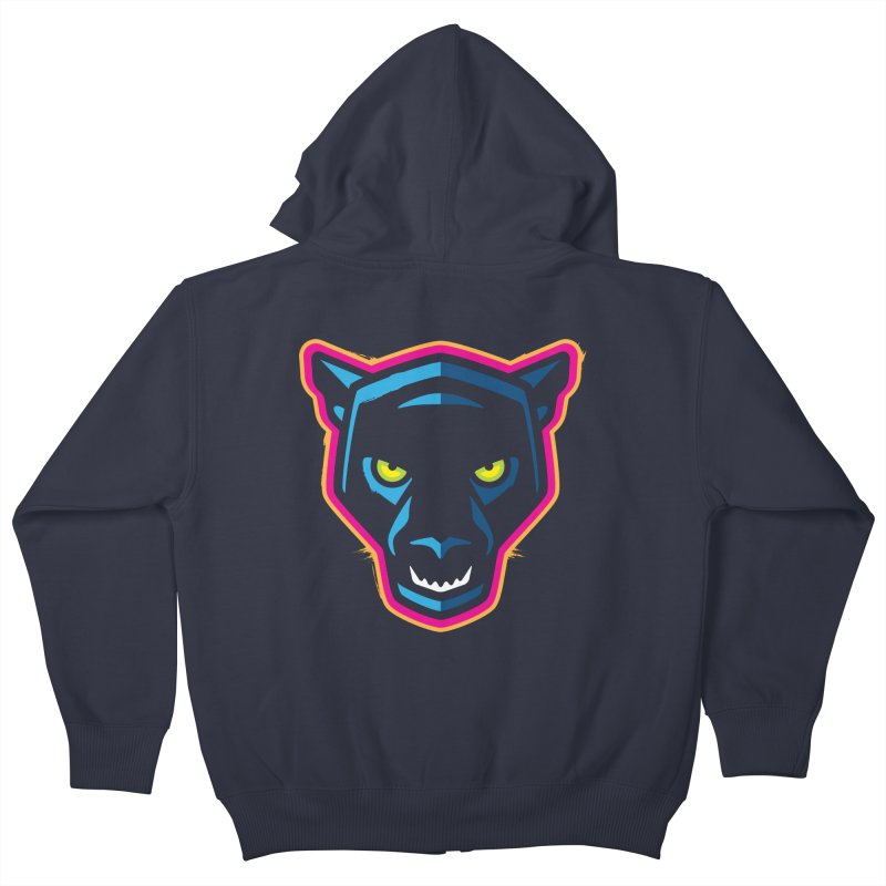 Panther! Kids Zip-Up Hoody by Signalnoise Threadless Store