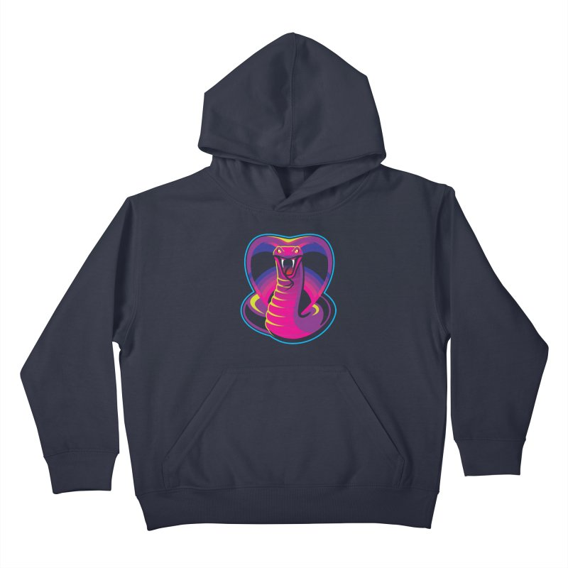 Neon Cobra Kids Pullover Hoody by Signalnoise Threadless Store