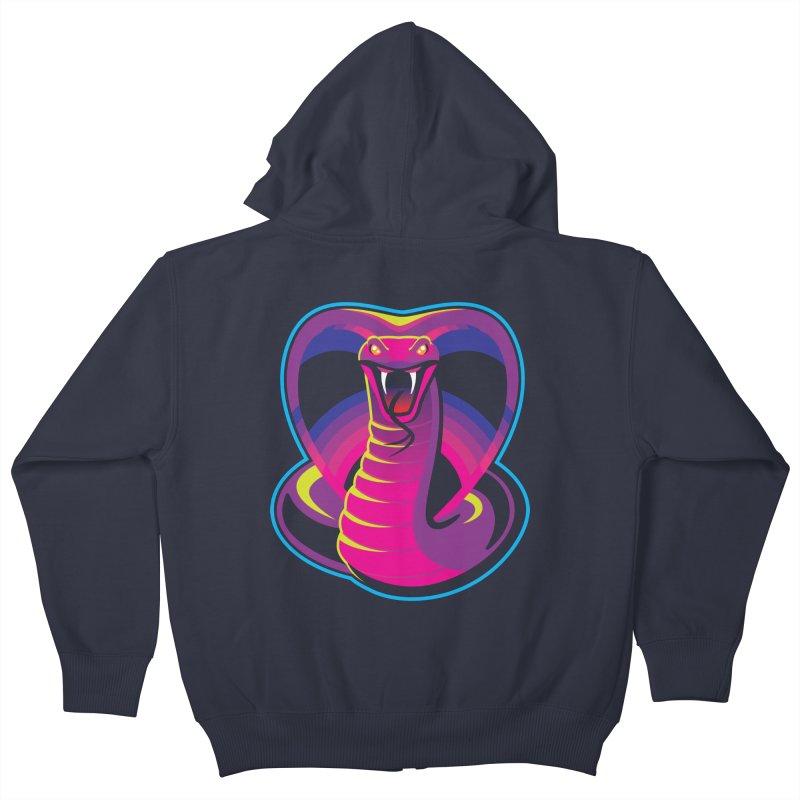 Neon Cobra Kids Zip-Up Hoody by Signalnoise Threadless Store