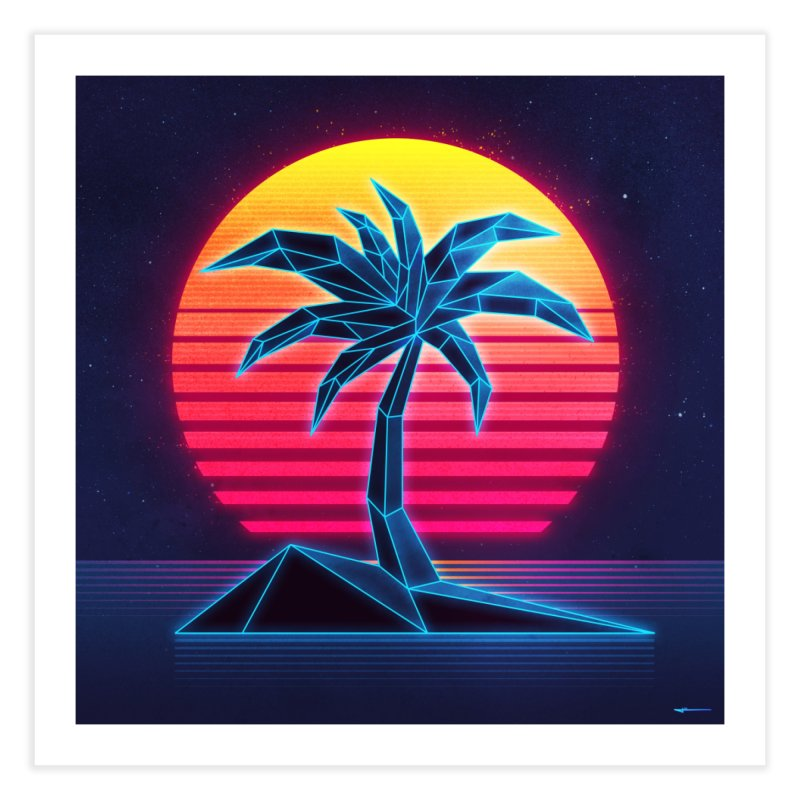 Digital Paradise Home Fine Art Print by Signalnoise Threadless Store