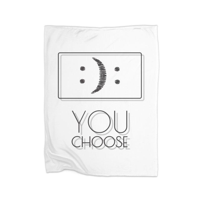 IT'S YOUR CHOOSE Home Fleece Blanket Blanket by Sinazz's Artist Shop