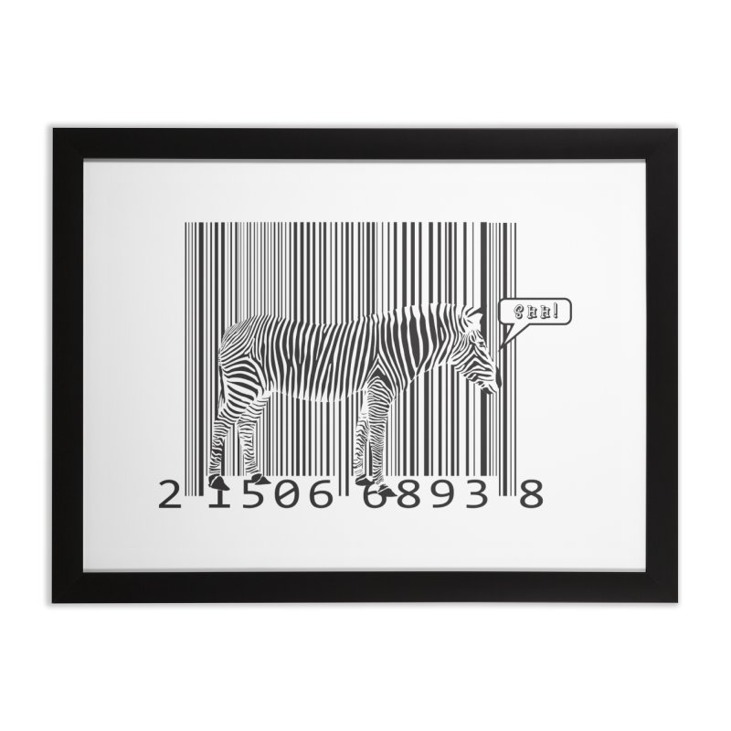 ZEBRA CAMOUFLAGE in Framed Fine Art Print Black by Sinazz's Artist Shop