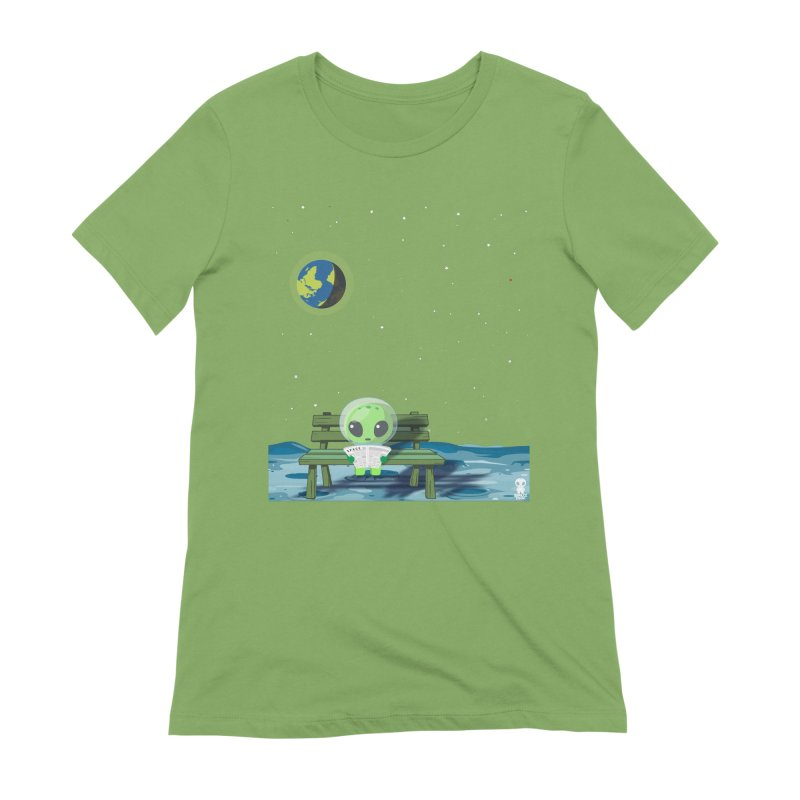 ALONE Women's Extra Soft T-Shirt by Sinazz's Artist Shop