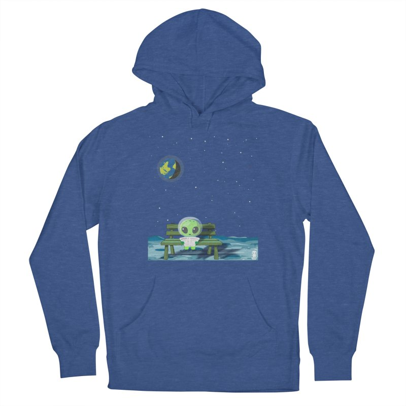 ALONE Men's French Terry Pullover Hoody by Sinazz's Artist Shop