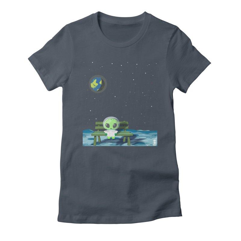 ALONE Women's T-Shirt by Sinazz's Artist Shop