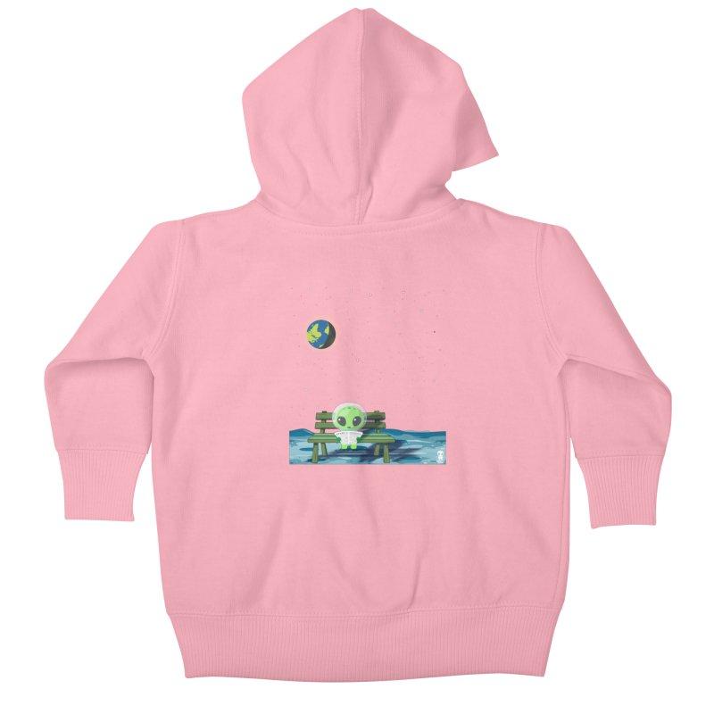 ALONE Kids Baby Zip-Up Hoody by Sinazz's Artist Shop