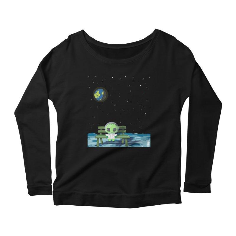 ALONE Women's Scoop Neck Longsleeve T-Shirt by Sinazz's Artist Shop