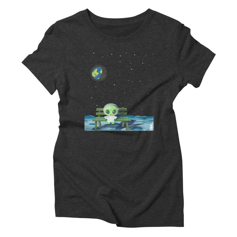 ALONE Women's Triblend T-Shirt by Sinazz's Artist Shop