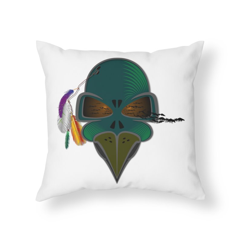 THE DEATH WARRIOR in Throw Pillow by Sinazz's Artist Shop
