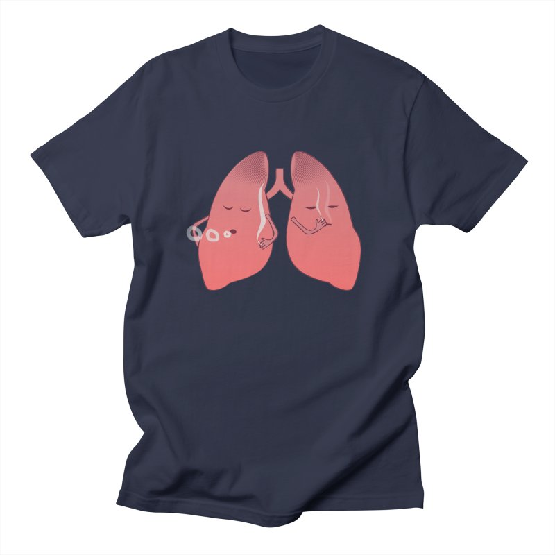 LUNGS ON SMOKE BREAK Men's Regular T-Shirt by Sinazz's Artist Shop