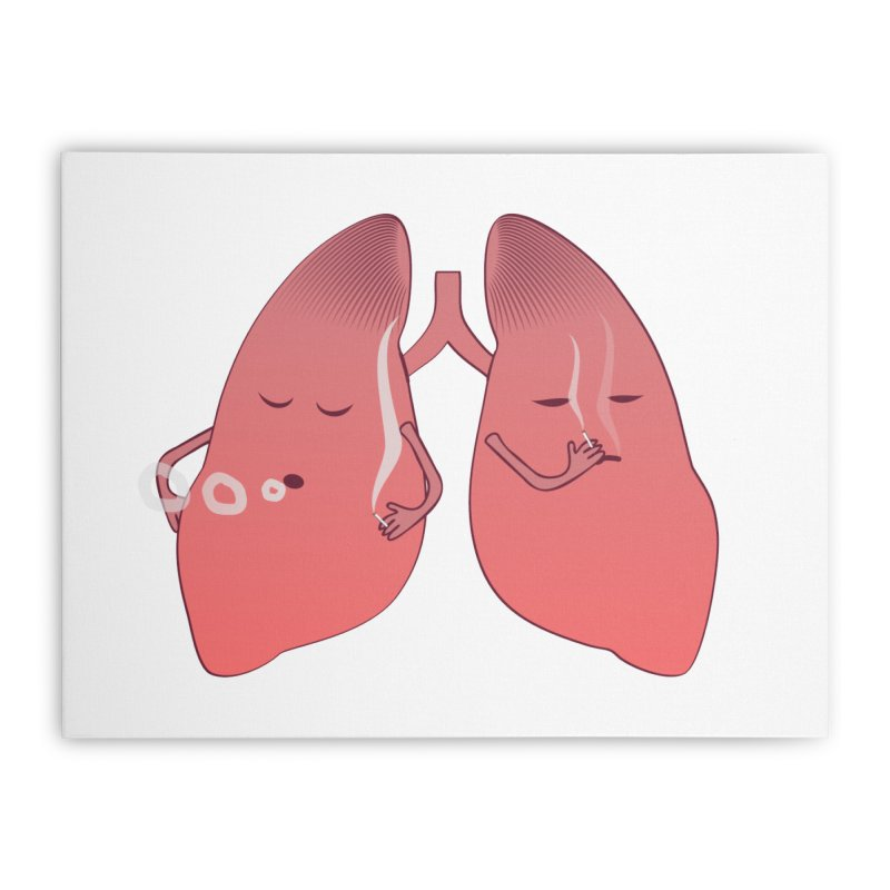 LUNGS ON SMOKE BREAK Home Stretched Canvas by Sinazz's Artist Shop