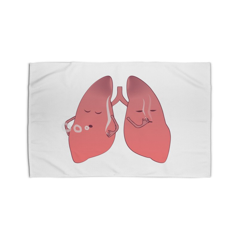 LUNGS ON SMOKE BREAK Home Rug by Sinazz's Artist Shop