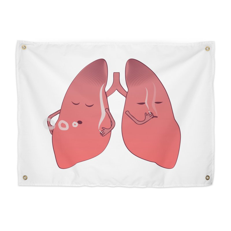 LUNGS ON SMOKE BREAK Home Tapestry by Sinazz's Artist Shop