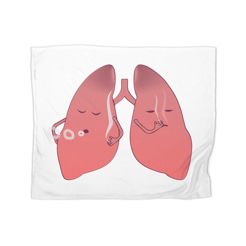 LUNGS ON SMOKE BREAK Home Fleece Blanket Blanket by Sinazz's Artist Shop