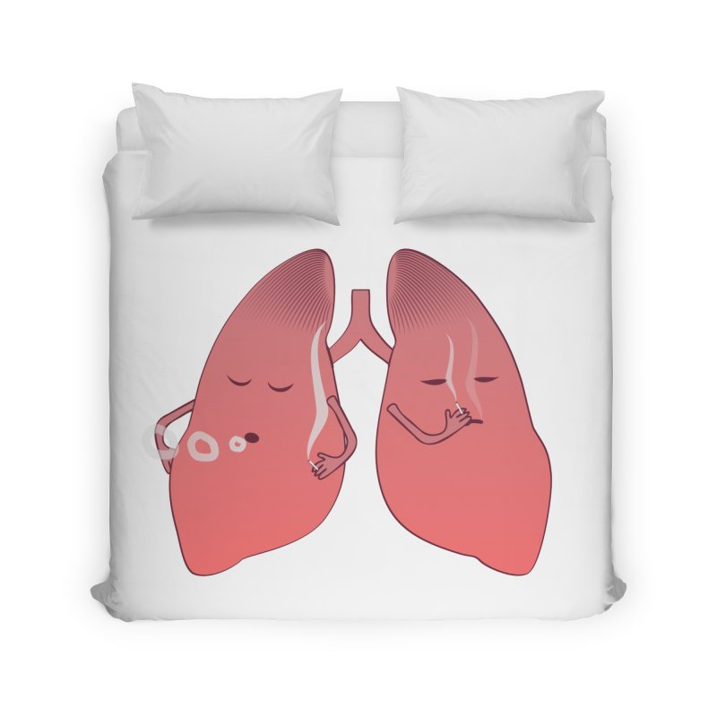 LUNGS ON SMOKE BREAK Home Duvet by Sinazz's Artist Shop