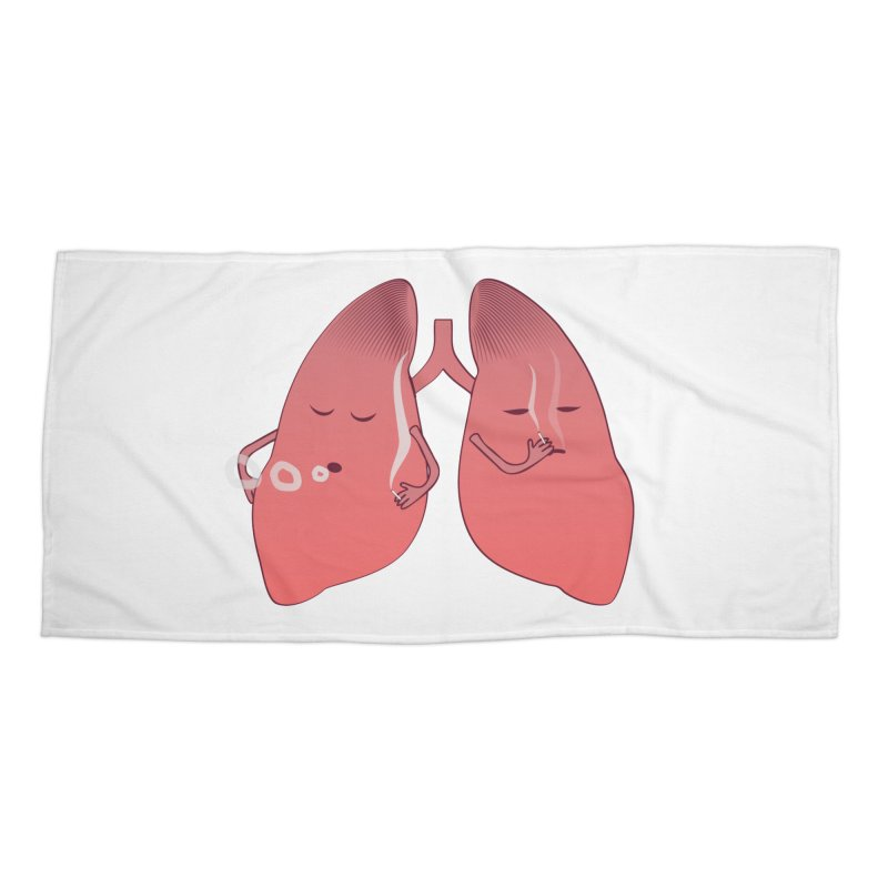 LUNGS ON SMOKE BREAK Accessories Beach Towel by Sinazz's Artist Shop