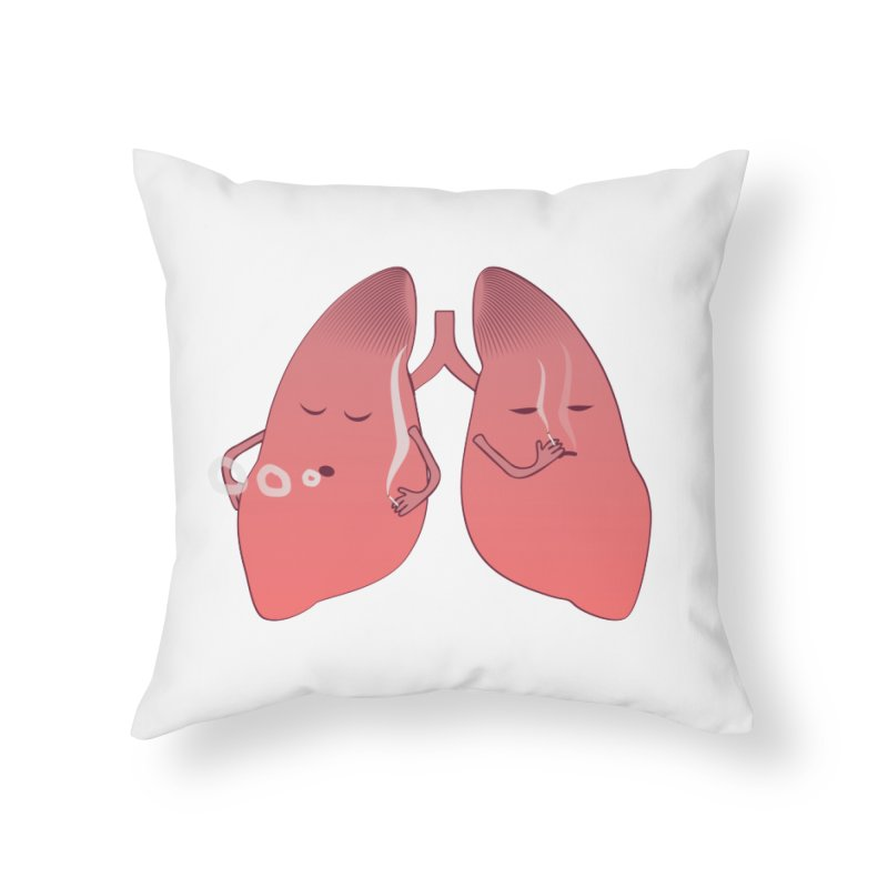 LUNGS ON SMOKE BREAK Home Throw Pillow by Sinazz's Artist Shop