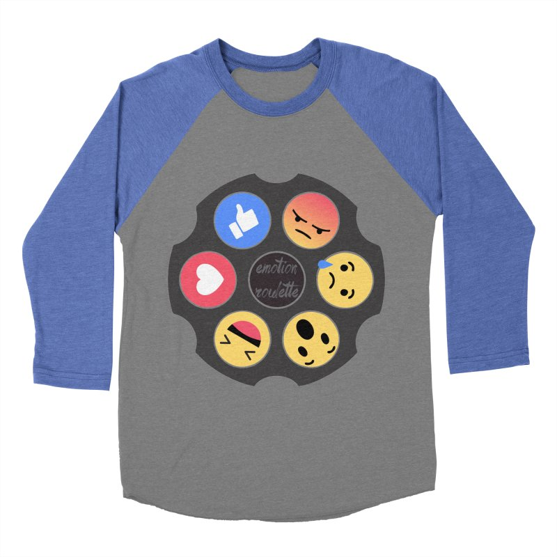 EMOTION ROULETTE in Men's Baseball Triblend T-Shirt Blue Triblend Sleeves by Sinazz's Artist Shop