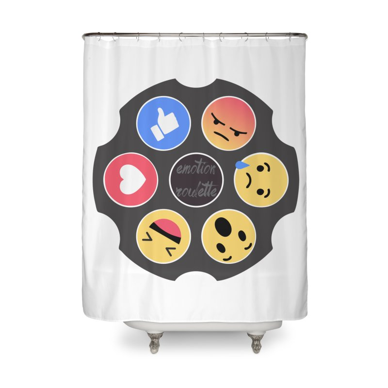 EMOTION ROULETTE Home Shower Curtain by Sinazz's Artist Shop