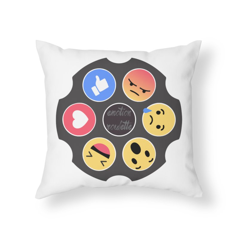 EMOTION ROULETTE Home Throw Pillow by Sinazz's Artist Shop