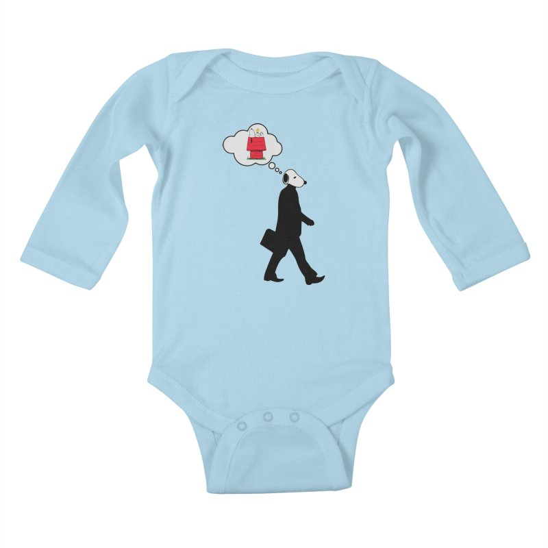 SNOOPY WANT TO CHILL Kids Baby Longsleeve Bodysuit by Sinazz's Artist Shop