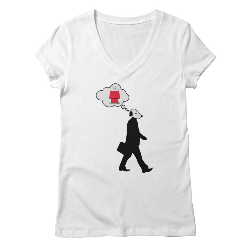 SNOOPY WANT TO CHILL Women's V-Neck by Sinazz's Artist Shop