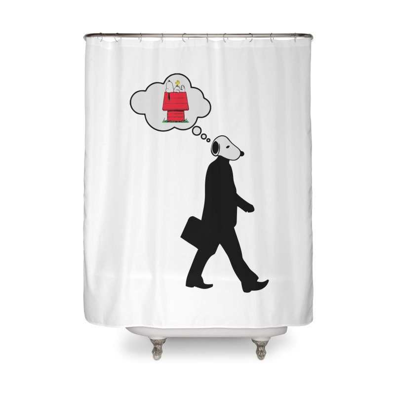 SNOOPY WANT TO CHILL Home Shower Curtain by Sinazz's Artist Shop