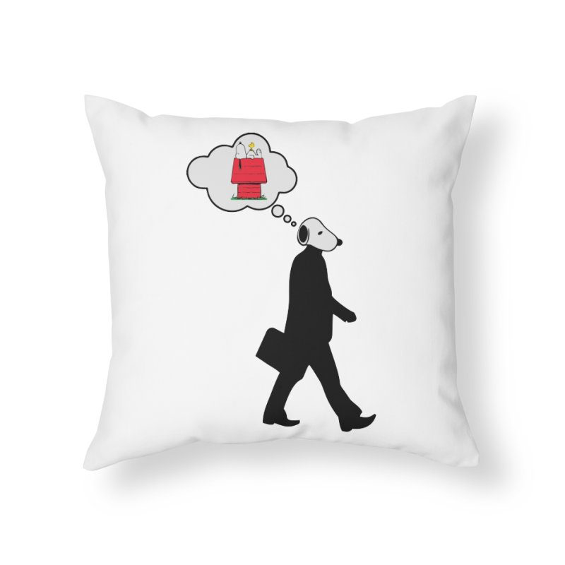 SNOOPY WANT TO CHILL Home Throw Pillow by Sinazz's Artist Shop