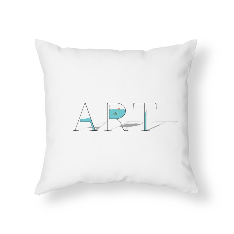 JUST IMAGINE -ART- Home Throw Pillow by Sinazz's Artist Shop