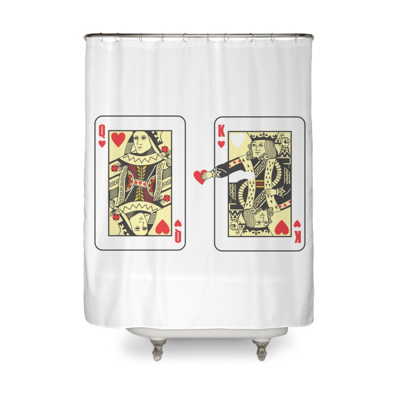 KING & QUEEN Home Shower Curtain by Sinazz's Artist Shop