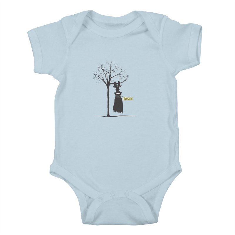 BE BATMAN THEY SAID... Kids Baby Bodysuit by Sinazz's Artist Shop