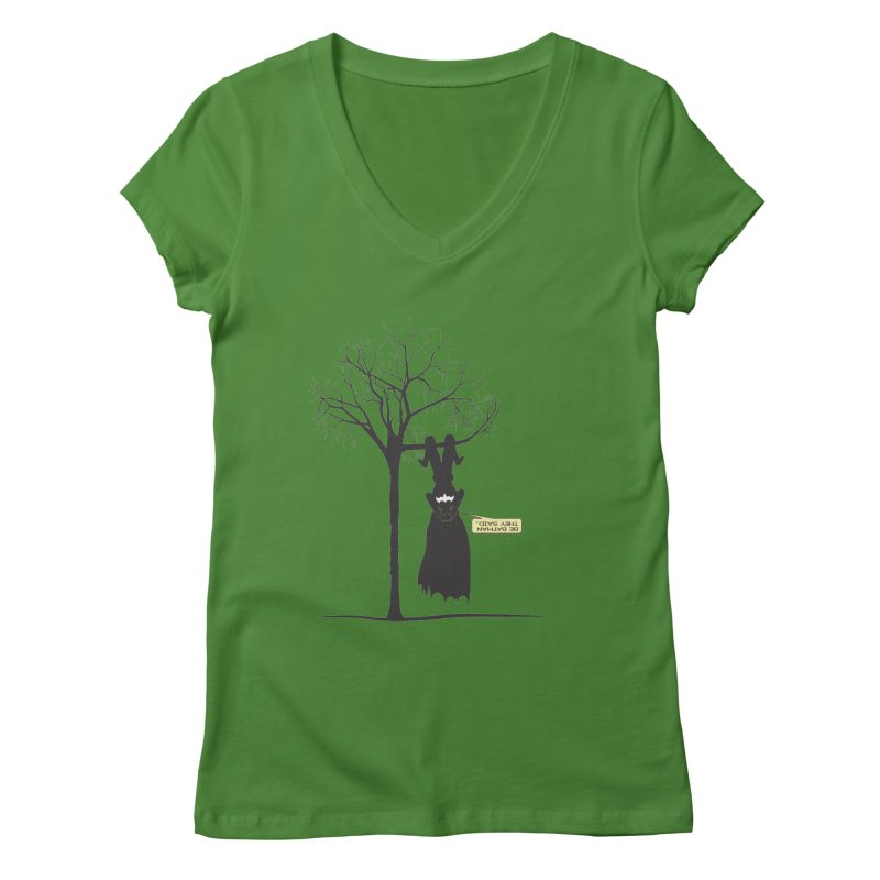 BE BATMAN THEY SAID... Women's V-Neck by Sinazz's Artist Shop