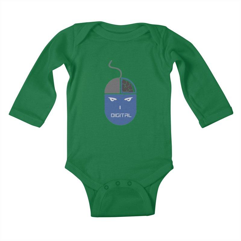 I DIGITAL Kids Baby Longsleeve Bodysuit by Sinazz's Artist Shop