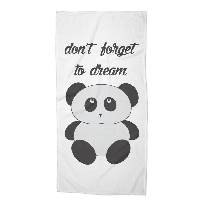 PANDA Accessories Beach Towel by Sinazz's Artist Shop
