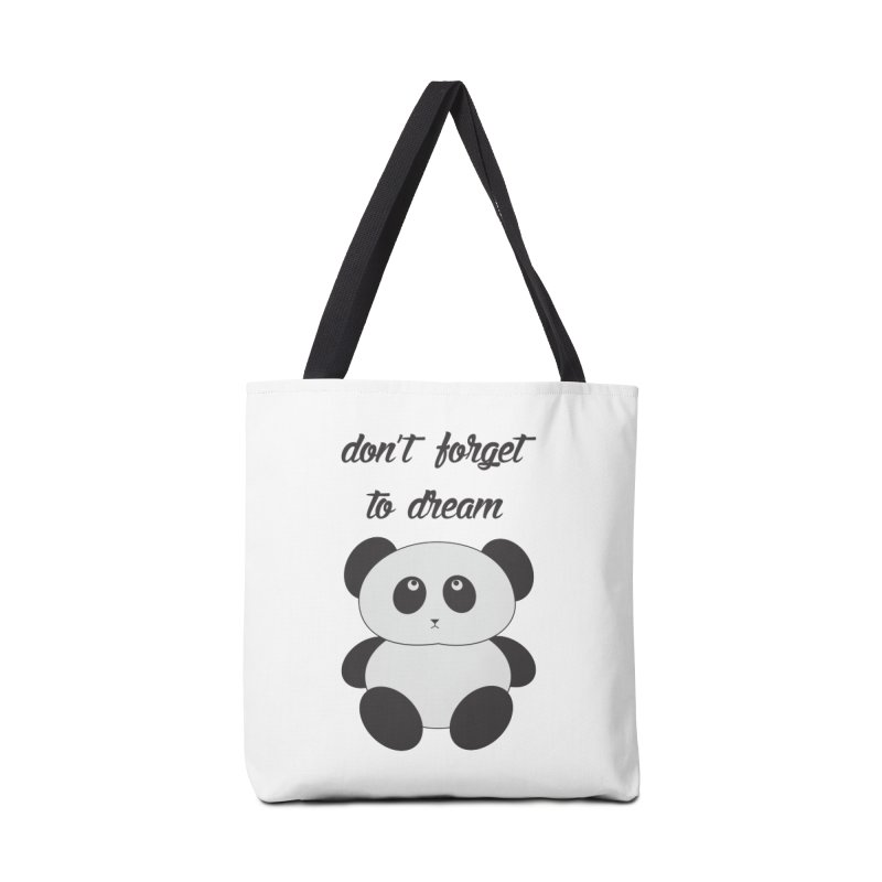 PANDA Accessories Tote Bag Bag by Sinazz's Artist Shop