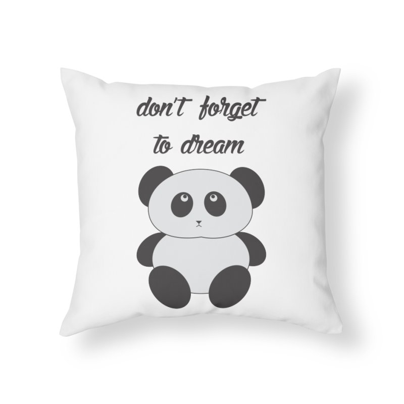 PANDA Home Throw Pillow by Sinazz's Artist Shop