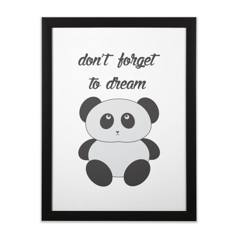 PANDA Home Framed Fine Art Print by Sinazz's Artist Shop