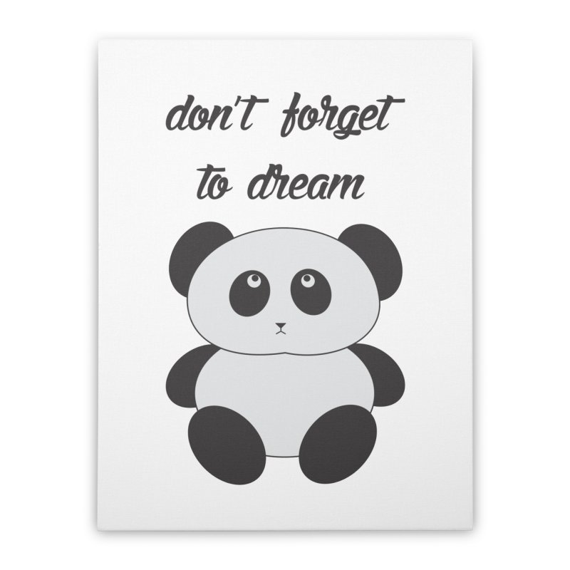 PANDA Home Stretched Canvas by Sinazz's Artist Shop