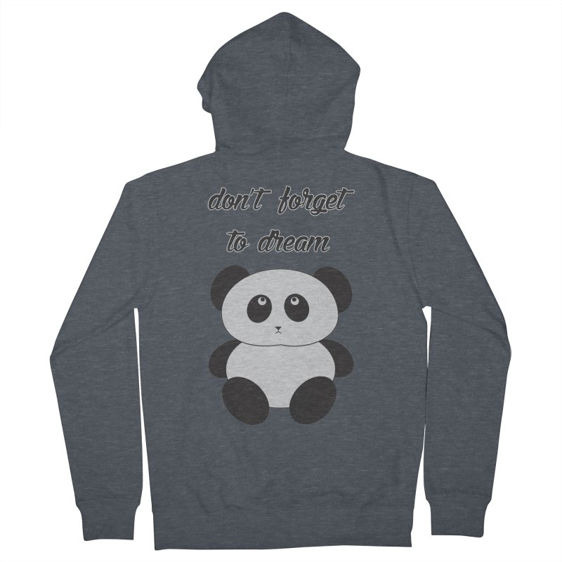 PANDA Women's French Terry Zip-Up Hoody by Sinazz's Artist Shop