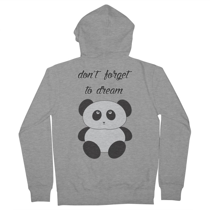 PANDA Men's French Terry Zip-Up Hoody by Sinazz's Artist Shop