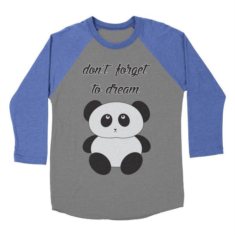 PANDA Women's Baseball Triblend Longsleeve T-Shirt by Sinazz's Artist Shop