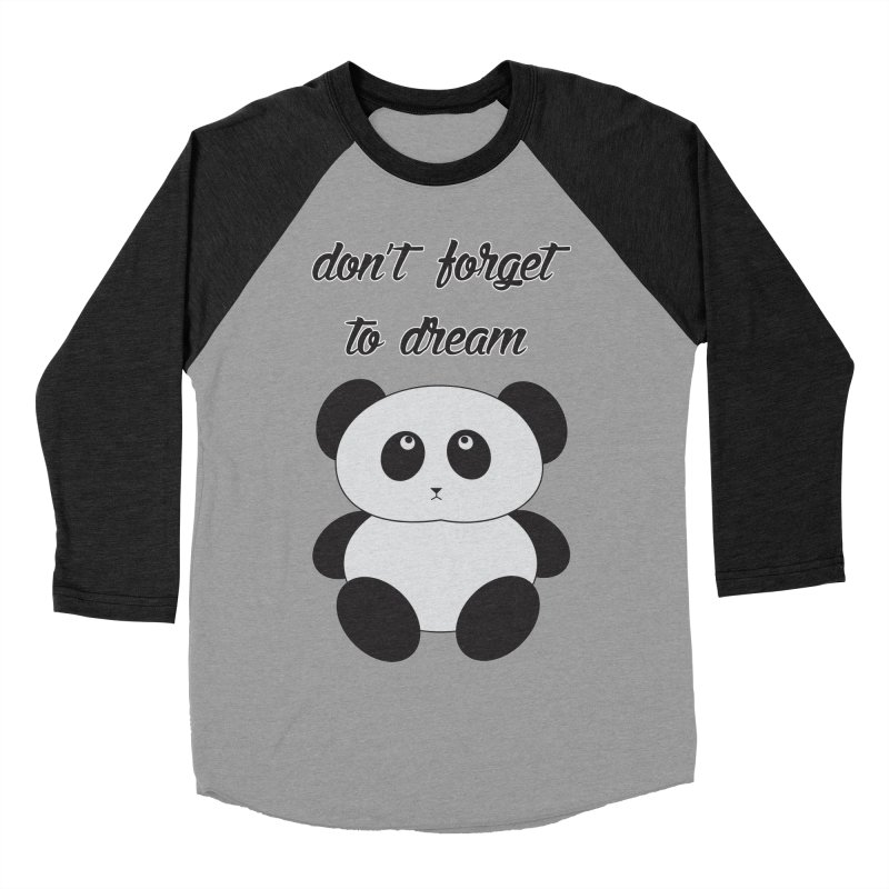 PANDA Men's Baseball Triblend Longsleeve T-Shirt by Sinazz's Artist Shop