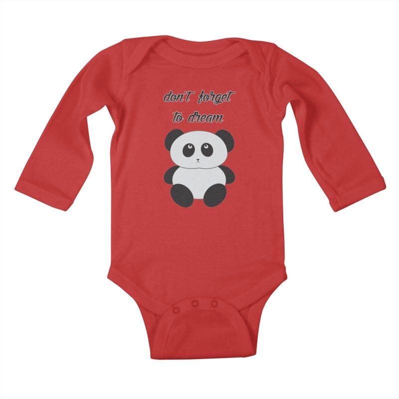 PANDA Kids Baby Longsleeve Bodysuit by Sinazz's Artist Shop
