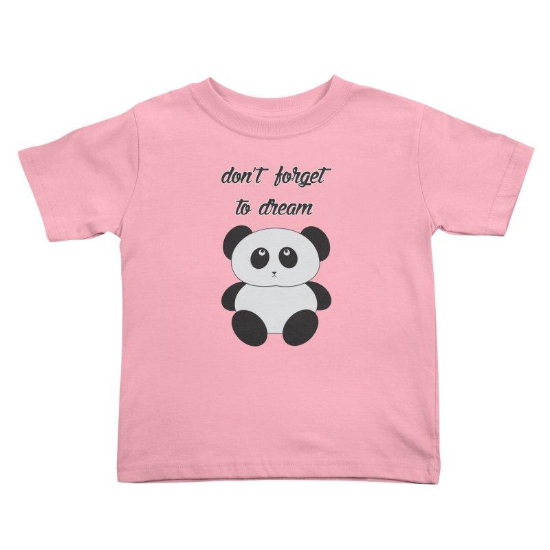 PANDA Kids Toddler T-Shirt by Sinazz's Artist Shop